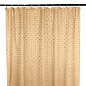 Taupe Mosaic Shower Curtain