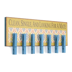 Looking For A Mate Laundry Wall Plaque