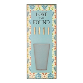 Lost and Found Wall Plaque with Clips
