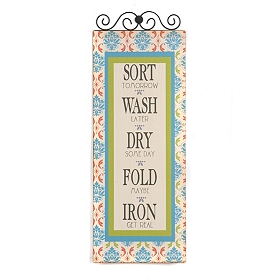Sorting Laundry Metal Wall Plaque