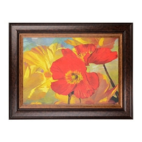 Poppies in Sunlight Framed Art Print