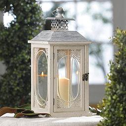 Antiqued Cream Lantern
