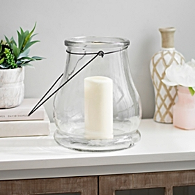 Clear Glass Lantern, 10.5 in.