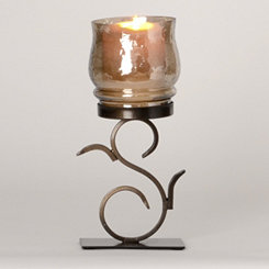Serena Brown Luster Votive Holder
