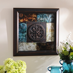 Patchwork Medallion Shadowbox