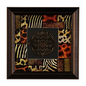 Safari Patchwork Shadowbox