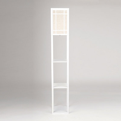 Kirklands cream shelf floor lamp customer reviews for Kirklands floor lamp with shelves