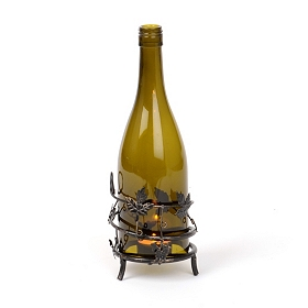 Wine Bottle Votive Candle Holder