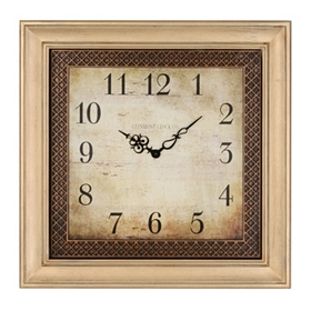 Ansley Cream Square Clock