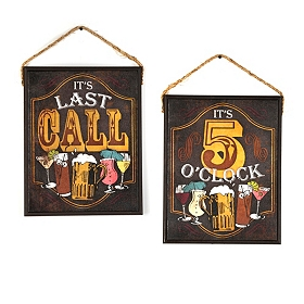 Happy Hour Two-Sided Wall Plaque