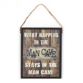 Man Cave Two-Sided Wall Plaque