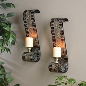 Verti Lattice Sconce, Set of 2