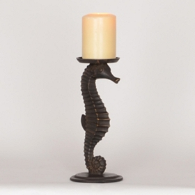 Seahorse Pillar Candle Holder, 10 in.