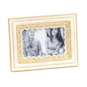 Ornate White Picture Frame, 4x6