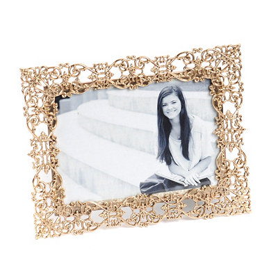 Cutout Gold Filigree Picture Frame, 5x7