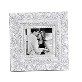 Carved Flowers Picture Frame, 4x4