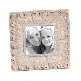 Distressed Ivory Daisy Picture Frame, 4x6