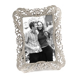 Antiqued Silver Picture Frame, 4x6