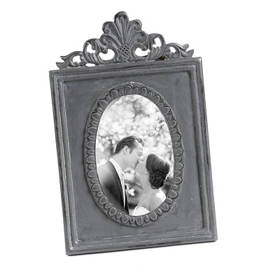 Ornate Distressed Slate Picture Frame, 4x4