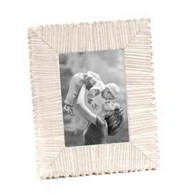 Embossed Ivory Stripes Picture Frame, 5x7
