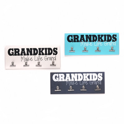 Grandkids Make Life Grand Wall Plaque with Clips
