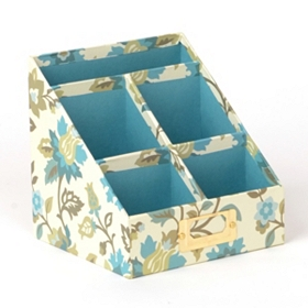 Spa Blue Desk Organizer