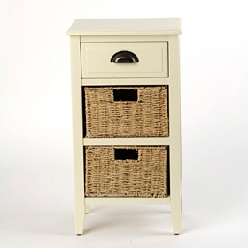 Cream 3-Drawer Storage Chest