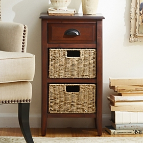 Brown 3-Drawer Storage Chest