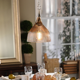 Copper Luster Glass Pendant Light