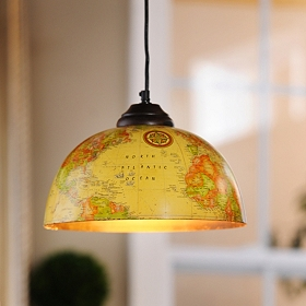 Vintage Globe Pendant Light