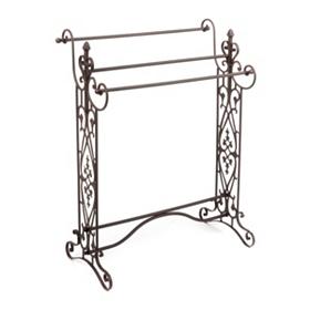 Gentry Wide Bronze Quilt Rack