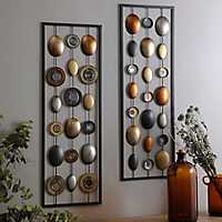 Metallic Dots Plaque, Set of 2