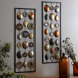 Metallic Dots Plaque, Set of 2