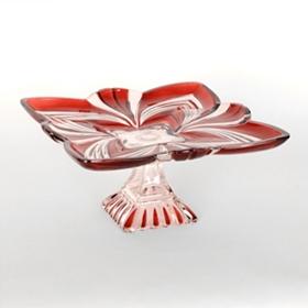 Aurora Ruby Pedestal Plate