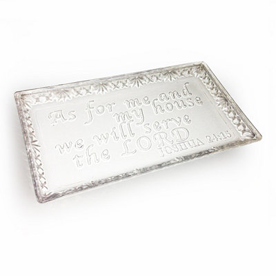 Serve The Lord Glass Tray