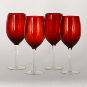 Delmanico Red Goblets, Set of 4