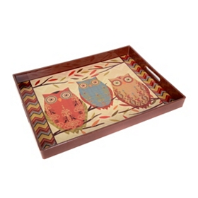 Vintage Owl Serving Tray