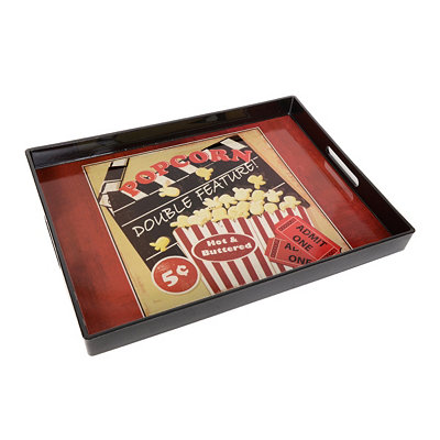 Double Feature Movie Serving Tray