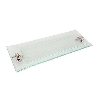 Fleur-de-lis Glass Platter