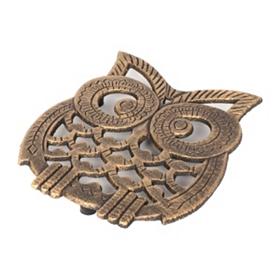 Bronze Owl Trivet