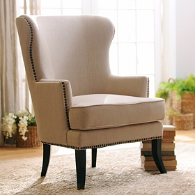 Parker Ivory Wing Chair
