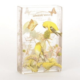 Autumn Goldfinch Vase