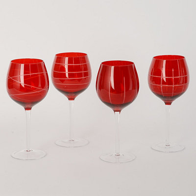 Medallion Red Wine Glass, Set of 4