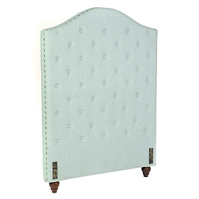 Seafoam Linen Tufted Twin Headboard