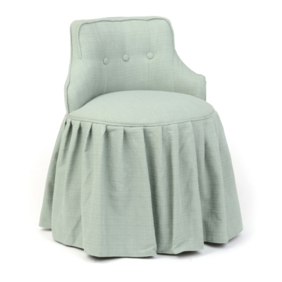 Seafoam Skirted Vanity Stool