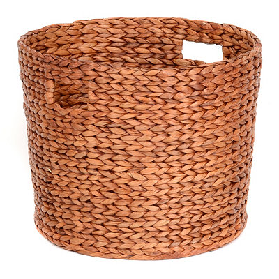 Round Woven Hyacinth Basket, Small