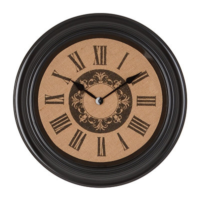 Burlap Medallion Clock