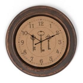 Burlap Key Clock