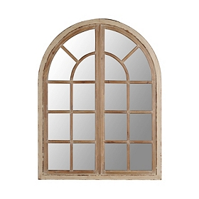 Lola Distressed Cream Arch Mirror