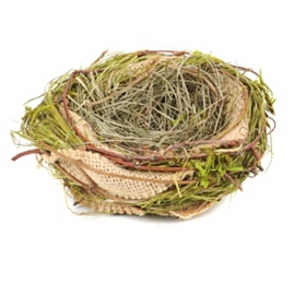 Burlap and Grass Nest